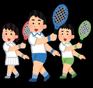 テニスの練習